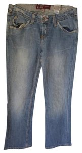 J & Co Jeans Cropped 26 Straight Leg Jeans-Light Wash