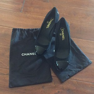Chanel Black Platforms