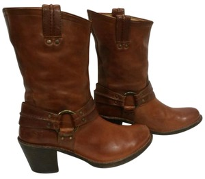 Frye Cognac Leather Boots