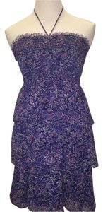 American Eagle Outfitters short dress Blue flower print on Tradesy