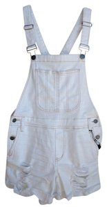 STS Blue Overalls Distressed Shortalls Shorts White