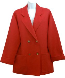 Burberry Red Wool Jacket Blazer