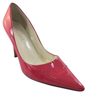 Ralph Lauren Pink Patent Leather Pointed Toe Pumps