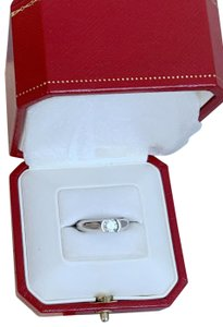 Cartier Cartier 18k White Gold Diamond Engagement Size 47 Ring