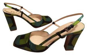 Prada Green/Navy/Teal Pumps