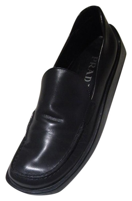 Item - Charcoal Gray Italian Made Casual Wedge Loafers 37 Flats Size US 7 Regular (M, B)