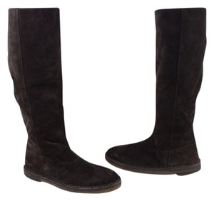 Vince Shearling Suede Brown Boots