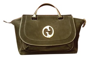 Gucci 1973 Suede Leather Tote in Black