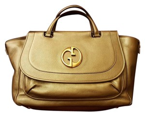 Gucci 1973 Leather Tote in Gold