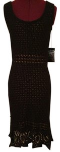 Etcetera Knit Crochet Lined Dress