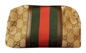 Gucci Cosmetic Travel Web Multi Clutch
