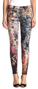 Hudson Jeans Hudson Distressed Multicolor Color Splash Skinny Jeans