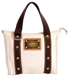 Louis Vuitton Antiqua Limited Edition Evening Tote Satchel in Beige