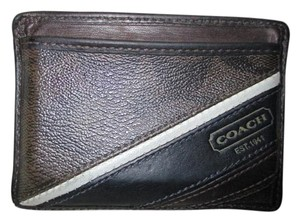 Coach leather signature card wallet