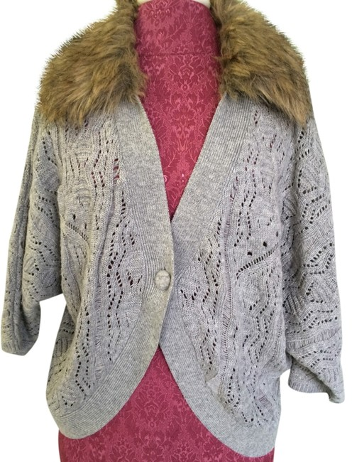 Preload https://item4.tradesy.com/images/bebe-gray-faux-cardigan-size-8-m-1977498-0-0.jpg?width=400&height=650