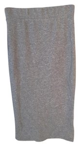 James Perse James Standard Knit Pull On Skirt Grey