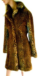 Kristen Blake Fur Leopard Animal Exotic Fur Fur Coat