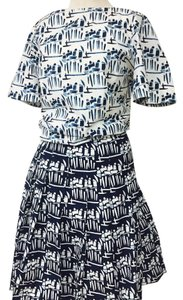 Tory Burch short dress Blue and White on Tradesy
