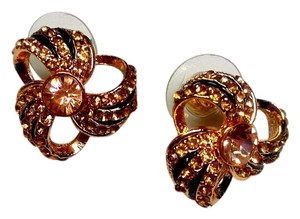 Betsey Johnson Betsey Johnson Windwill Stud Earrings Rose Gold Tone j2976