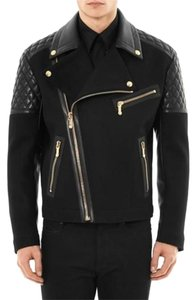 Versace Motocycle Wool Blend Motorcycle Jacket
