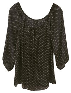 Ann Taylor Top Black, White