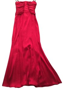 David Meister Strapless Silk Flowy Gown Dress