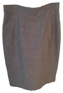 Max Mara Wool Skirt Taupe tweed brown grey