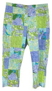 Lilly Pulitzer Capri/Cropped Pants Purple, Green, Blue, White