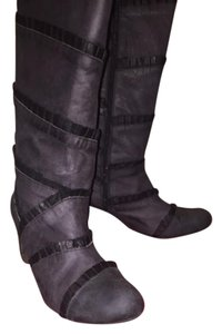 Couleur Pourpre Leather Blue and black Boots