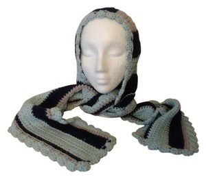 hand crocheted by me New, never used one of a kind, hood with attacheted scarf