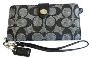 Coach Michael Kors Wallet On A Chain Saffiano Leather Black Cross Body Bag