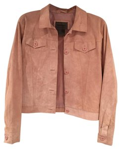 Brandon Thomas light pink, suede Blazer