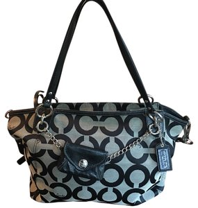 Coach Tote in Black And Grey
