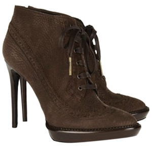 Burberry Prorsum Burberry Suede Ankle Taupe Boots