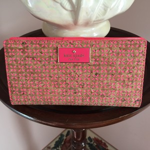 Kate Spade NATURAL/GERANIUM Clutch
