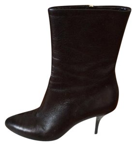 Gucci Stiletto Leather Classic Elegant Black Boots