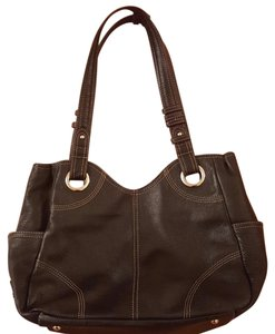 Tignanello Leather Black Shoulder Bag