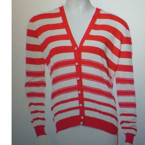 Louis Vuitton Striped Pearl Cardigan