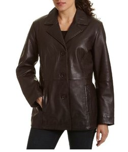 Wilsons Leather Removable Liner Brown Leather Jacket