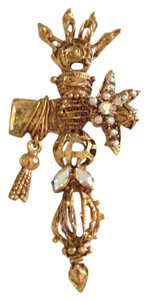 Christian Lacroix Vintage Abstract Christian Lacroix Cross Brooch