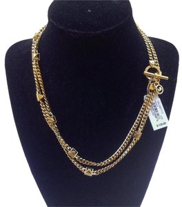 Michael Kors MICHAEL KORS Brilliance Goldtone Pyramid Stud Chain Necklace MKJ2901