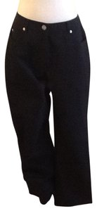 St. John Dry Clean Only Made In China 96% Elastic 4% Relaxed Pants Black
