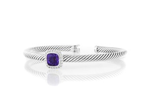 David Yurman Albion Bracelet with Amethyst and Diamonds
