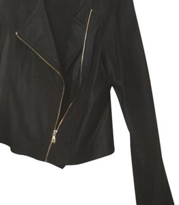 Ann Taylor Navy Blue ( Dark) Leather Jacket