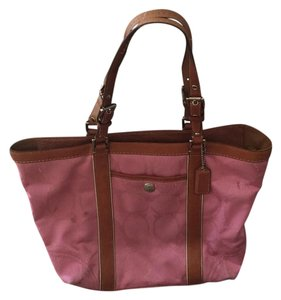 Coach Tote in Tan and Pink