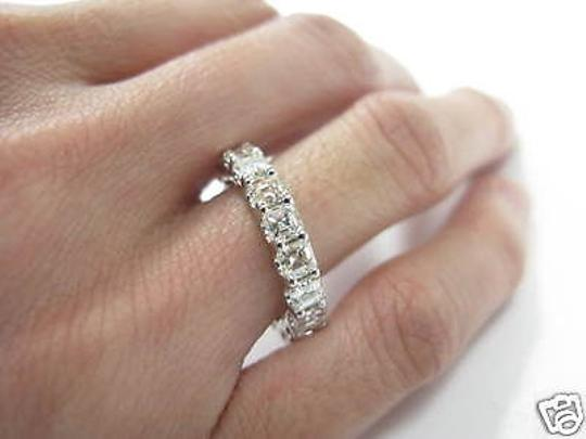 Other Fine,Asscher,Cut,Diamond,Eternity,Ring,3.80ct,White,Gold,14kt,Sz,5.5 Image 2