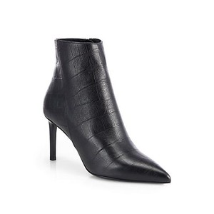 Saint Laurent Paris Leather Ysl Boots