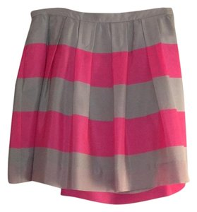 J.Crew Mini Skirt Gray and neon pink