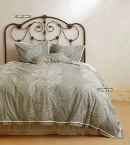 Nip Anthropologie Imogen Queen Duvet + 2 Shams