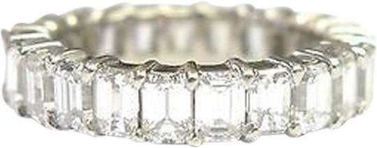 Other Fine,Emerald,Cut,Diamond,Shared,Prong,Eternity,Band,Ring,Wg,5.00ct,Sz8